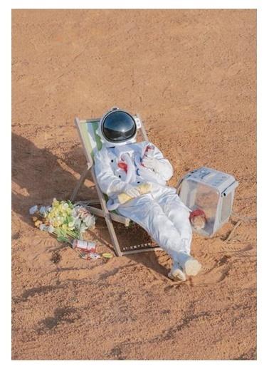 MarkaEv Canvas Astronot Tablo 0064 Renkli